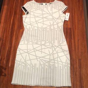 Julia Jordan, white/black dress, size 12 (NWT)